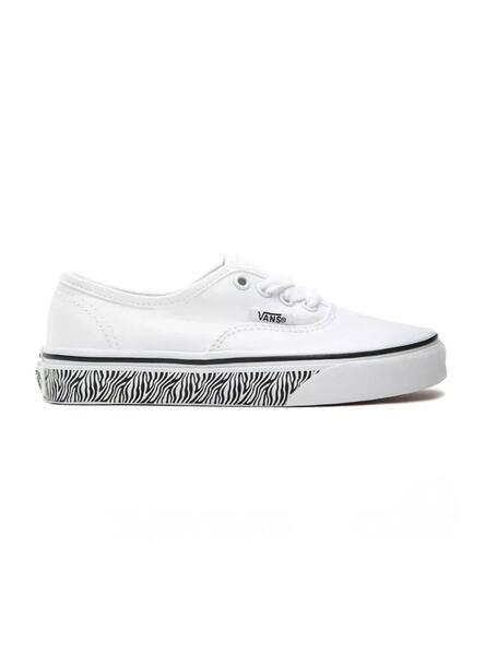 Baskets Vans Authentic Blanc Zebra pour Fille