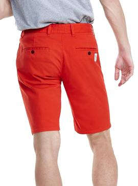Short Tommy Jeans Essential Chino Rouge Homme