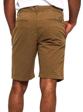 Short Superdry International Marron Homme