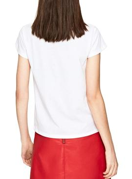 T-Shirt Jeans Pepe Alissa Blanc Femme