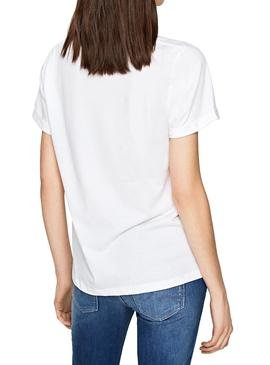 T-Shirt Jeans Pepe Adette Blanc Femme