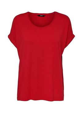 T-Shirt Only Moster Rouge Femme