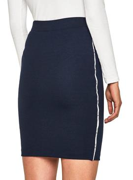 Jupe Tommy Jeans Piping Bodycon Bleu Femme