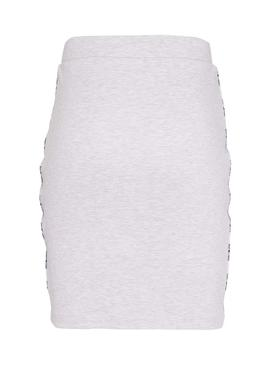 Jupe Tommy Jeans Piping Bodycon Gris Femme
