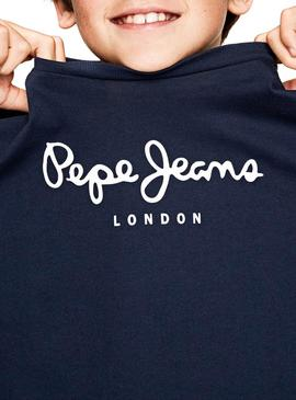 T-Shirt Pepe Jeans New Herman Jr Marin Enfante