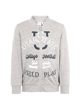 Sweat Name It Nerbula Gris pour Enfante