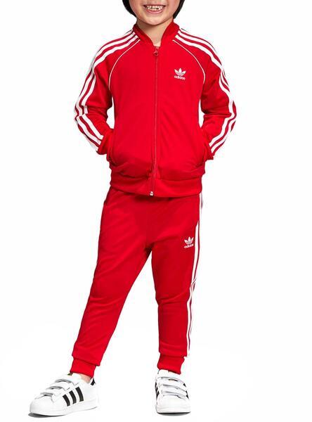 Survêtement Adidas Superstar Rouge Enfante