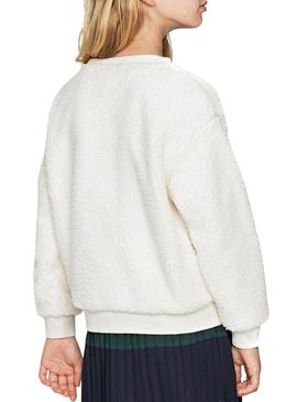 Sweat Pepe Jeans Fille Beige Fille