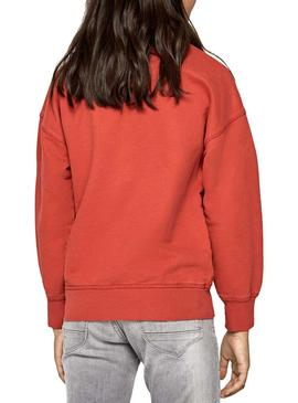 Sweat Pepe Jeans Nessa Orange Fille