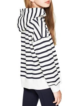 Sweat Pepe Jeans None Stripes Fille