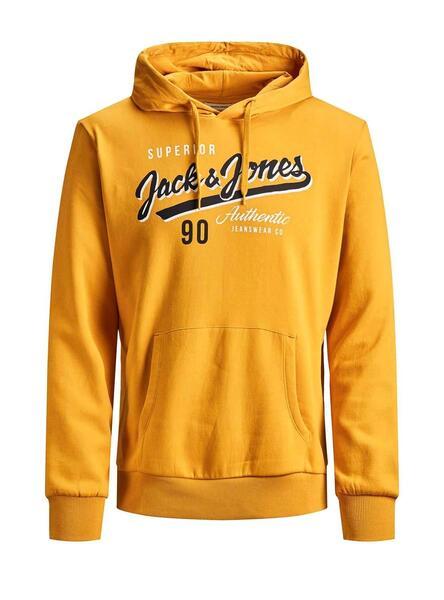 Jack /& Jones Core Sweat à capuche homme imprimé sur la Poitrine Logo Pull Capuche Pull jcomario