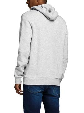 Sweat Jack and Jones Ecorp Logo Gris Homme