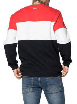 Sweat Fila Blocked Rouge pour Homme