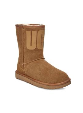 Boots UGG Classic Short Rubber Logo Chestnut