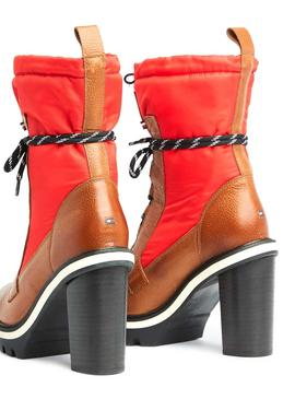 Boots Tommy Hilfiger Fun Nylon Rouge Femme