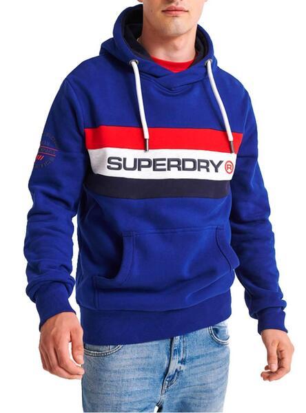 Sweat Superdry Trophy Classic Bleu Homme