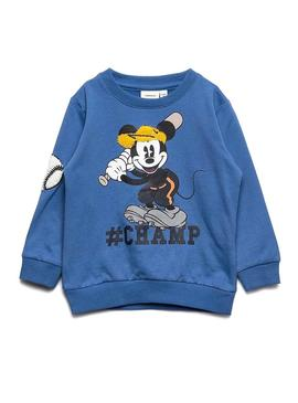 Sweat Name It Mickey Bently Blue Enfante