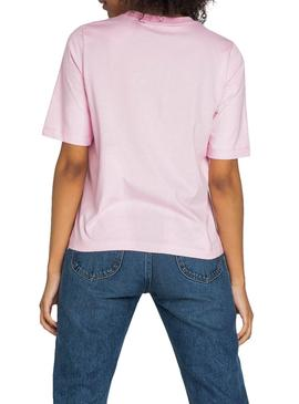 T-Shirt Lee Cansas Rose Femme