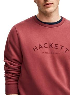 Sweat Hackett Classic Grenat Homme
