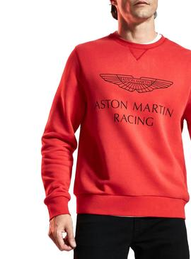 Sweat Hackett Aston Martin Rouge Homme