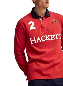Polo Hackett Rugby Rouge Homme