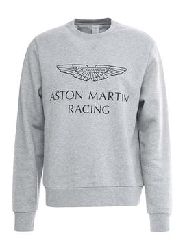 Sweat Hackett Aston Martin Gris Homme