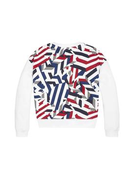 Sweat Tommy Hilfiger American Blanc Fille