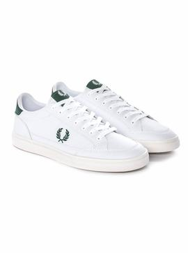 Baskets Fred Perry Deuce Peau Blanc Homme