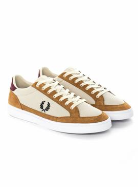 Baskets Fred Perry Deuce Maille Tapioca Homme