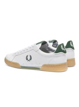 Baskets Fred Perry B722 Blanc Vert Homme