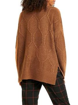 Pull Only Brown Linela Femme