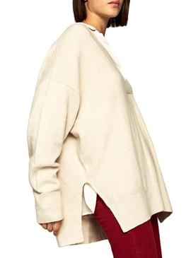 Pull Pepe Jeans Beatrix Beige Femme