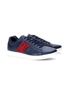 Baskets Lacoste Carnaby Stripe Bleu Homme