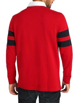 Polo Nautica Rugby Rouge Homme