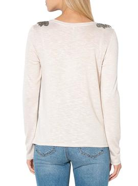 T-Shirt Only Silvia Beige Pour Femme