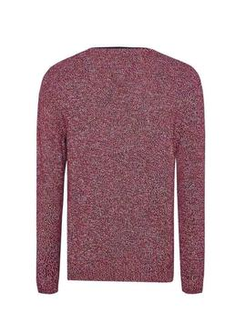 Pull Tommy Jeans Melange Rouge Pour Homme