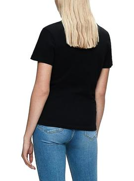 T-Shirt Calvin Klein Blocking Monogram Noir