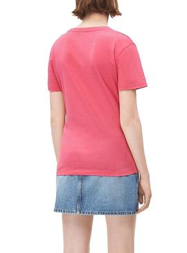 T-Shirt Calvin Klein Blocking Monogram Pink