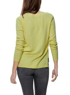 Pull Only Lesly Jaune Femme