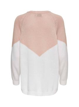 Pull Only Sara Rosa Femme