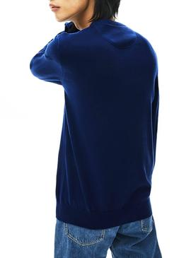 Pull Lacoste Round Basic Bleu Homme