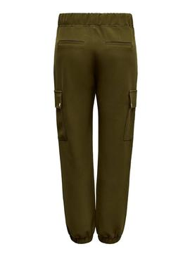 Pantalon Only Glowing Vert Femme
