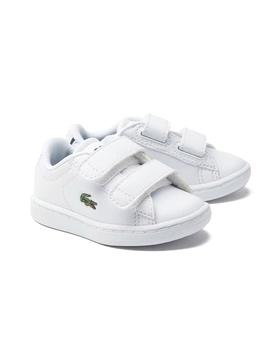 Baskets Lacoste Carnaby Evo White Pour Garçons