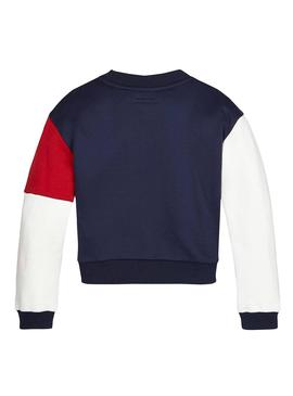 Sweat Tommy Hilfiger Crew Blue pour fille