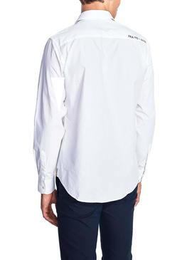 Chemise North Sails Patch Blanc para Homme