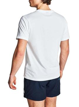 T-Shirt North Sails Logo Blanc pour Homme