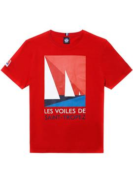 T-Shirt North Sails Saint Tropez Rouge Homme