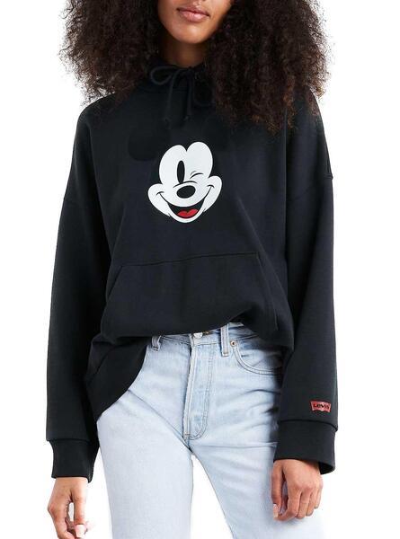 sweat noir mickey mouse