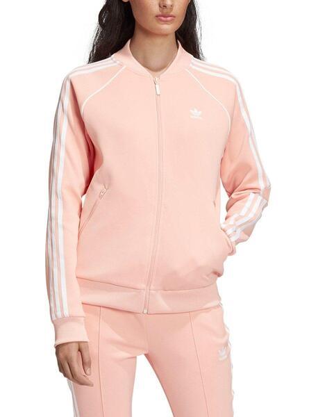 adidas Veste Zippée Femme SST DV2635 Rose Blanc
