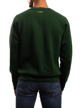 Sweat Klout Basic Vert pour Homme